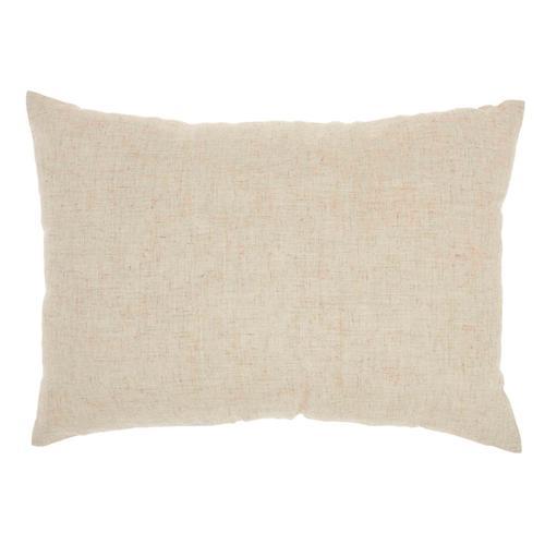 """Kathy Ireland Pillow L1811 Natural 14"""" X 20"""" Throw Pillow"""