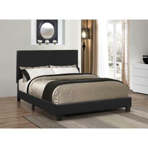 Mauve Upholstered Platform Black Twin Bed