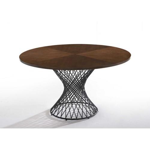 VIG Furniture - Modrest Theresa Modern Round Walnut & Black Table