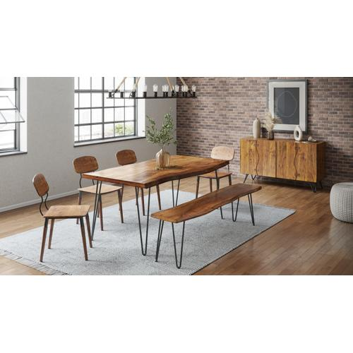 """Nature's Edge 79"""" Dining Table W/(4) Wooden Chairs"""