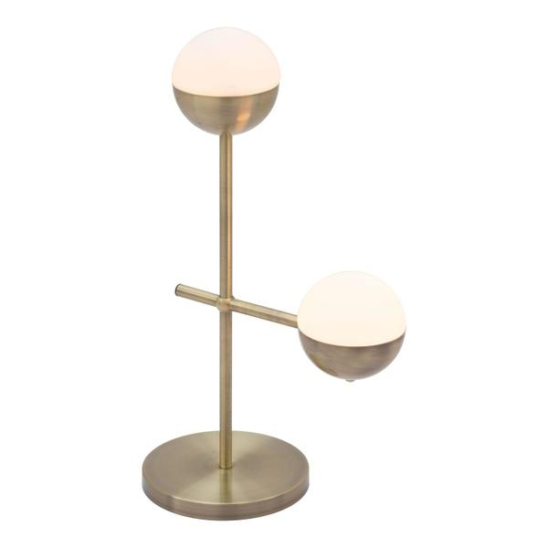 See Details - Waterloo Table Lamp White & Brushed Bronze