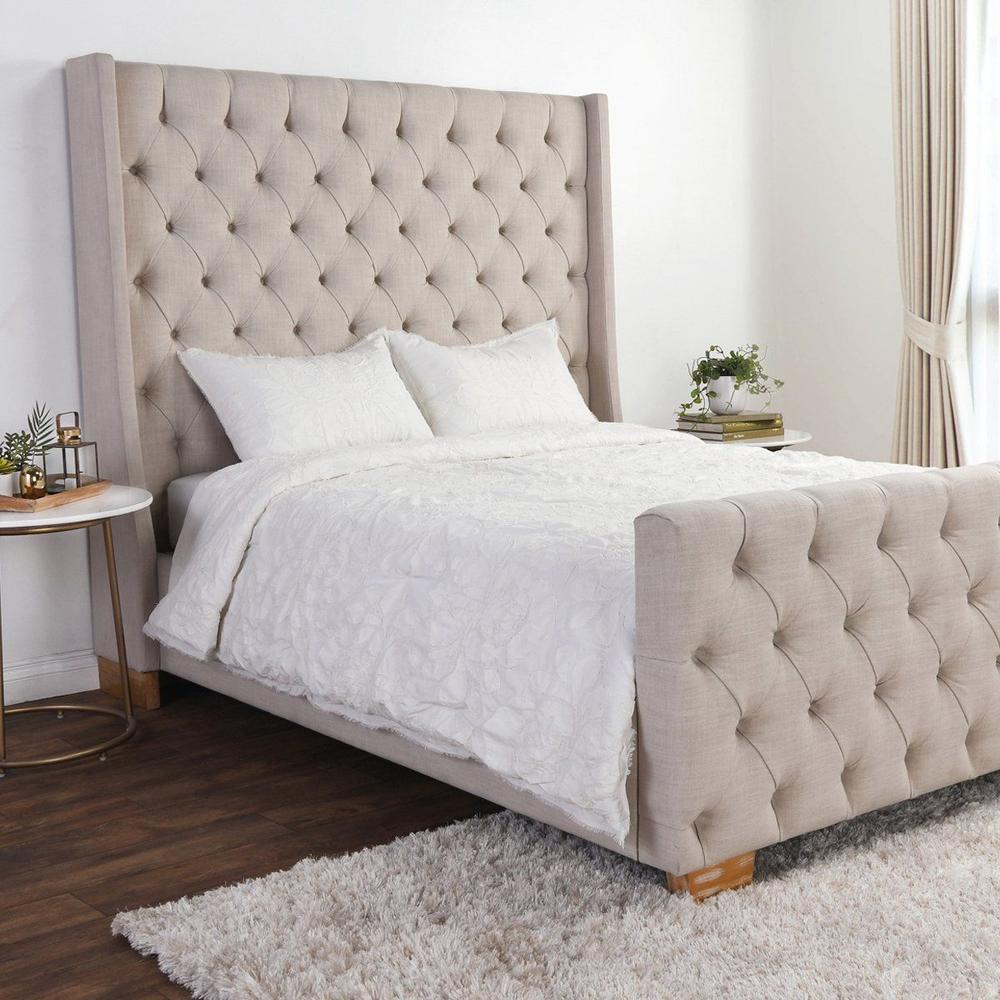 See Details - Matira Antique Cream 3Pc Comforter Queen Set