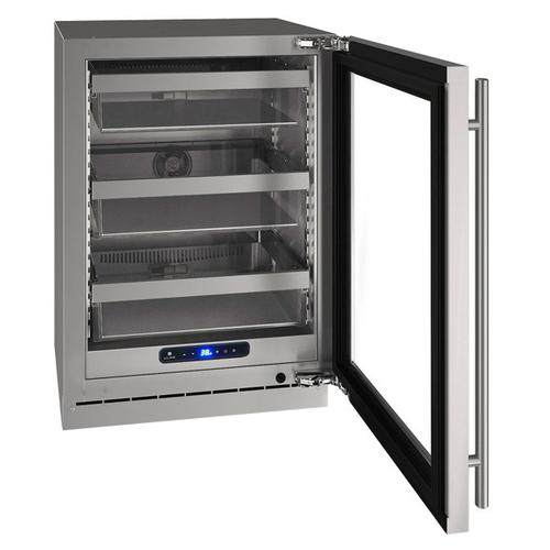 "U-Line - Hre524 24"" Refrigerator With Stainless Frame Finish (115 V/60 Hz Volts /60 Hz Hz)"