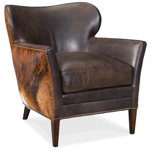 Hooker Furniture - Kato Leather Club Chair w/ Dark HOH