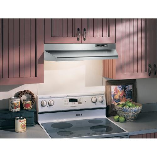 Broan® 30-Inch Ducted Under-Cabinet Range Hood, 160 CFM, Stainless Steel