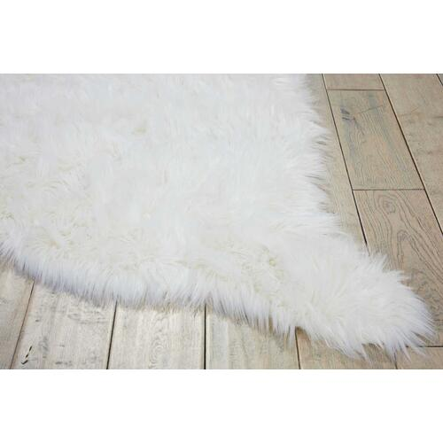 "Nourison Rugs - Fur Fl100 White 60"" X 84"" Throw Blanket"