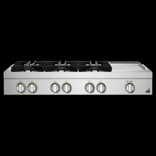 "48"" RISE™ Gas Professional-Style Rangetop with Chrome-Infused Griddle"