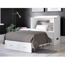 View Product - Hamilton Murphy Bed Chest Twin Extra Long White with Charging Station