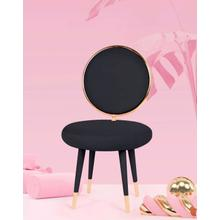 View Product - Modrest Haswell - Glam Black Velvet Accent Chair