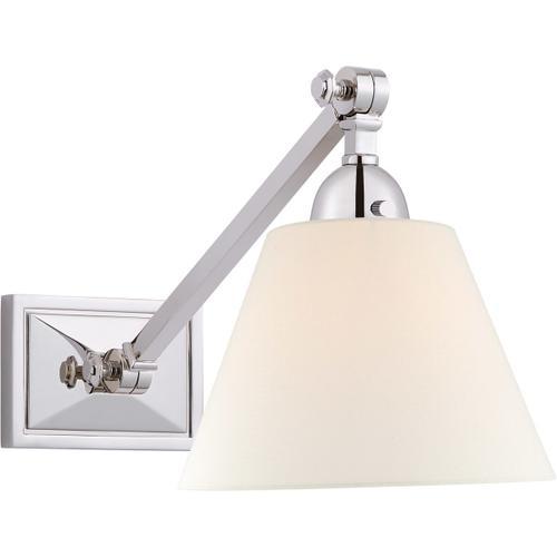 Alexa Hampton Jane 1 Light 8 inch Polished Nickel Single Library Wall Light