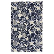 Flower Pop Navy Hand Tufted Rugs