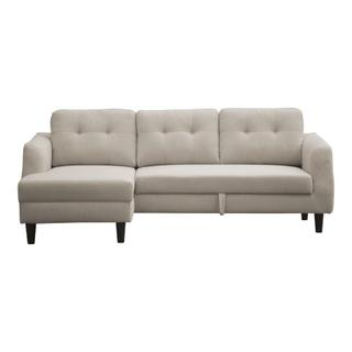 See Details - Belagio Sofa Bed With Chaise Beige Left