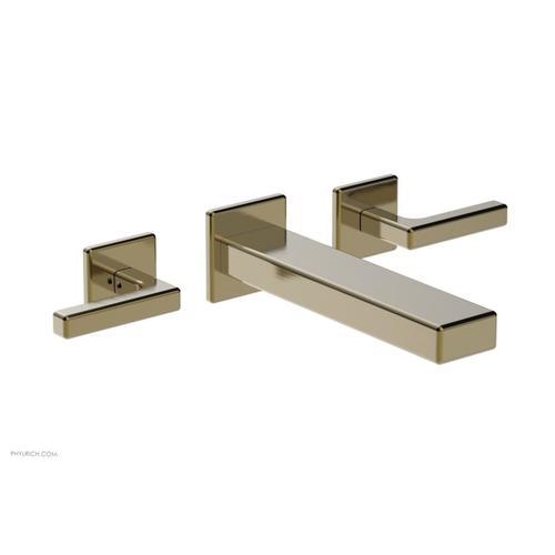 MIX Wall Lavatory Set - Lever Handles 290-12 - Antique Brass