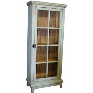 See Details - Tiffany Blue Single Door Cabinet
