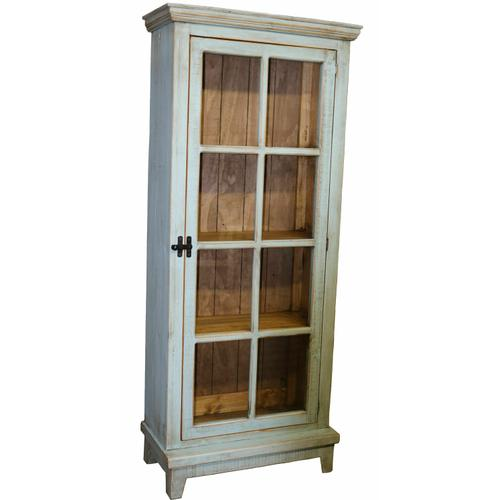 Million Dollar Rustic - Tiffany Blue Single Door Cabinet