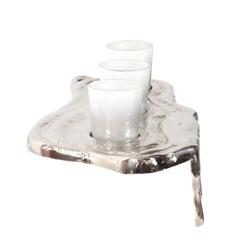 Howard Elliott - Nickel Molten Aluminum Candle Holder