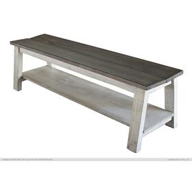 Breakfast Bench, Solid Wood - Stone