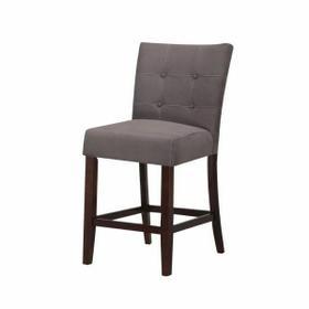 """ACME Baldwin Counter Height Chair (Set-2) - 16831 - Gray Microfiber & Walnutt - 24"""" Seat Height"""