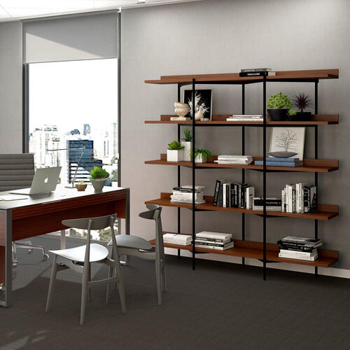 Shelving System 5305 in Charcoal Stained Ash Black