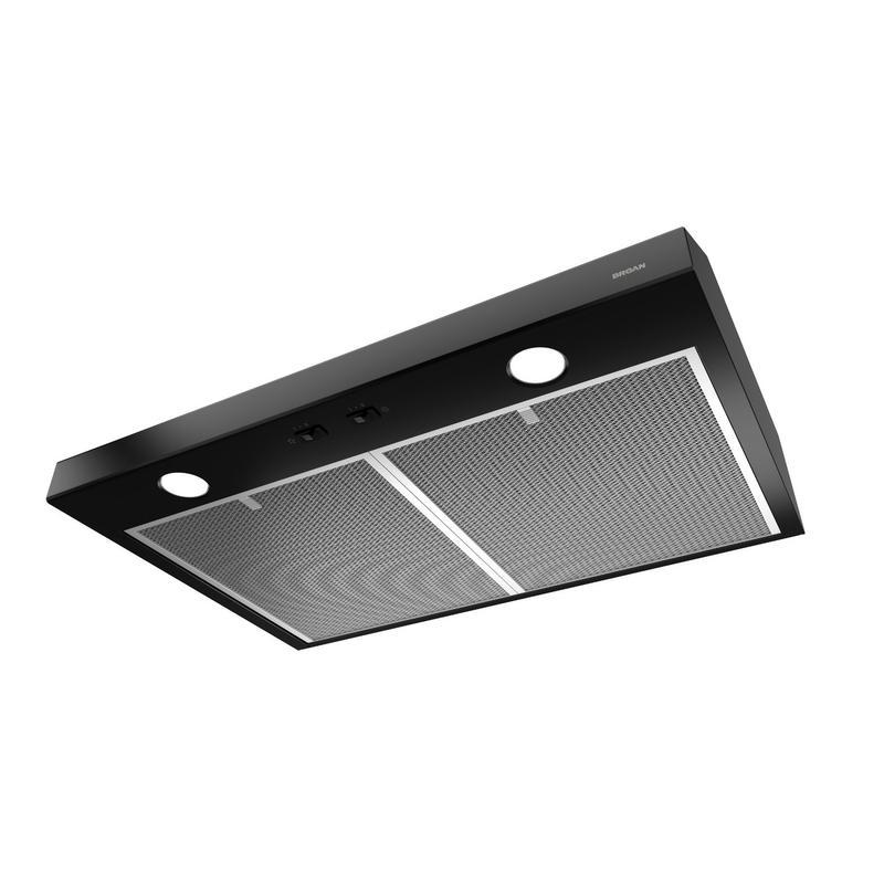 Broan® 42-Inch Convertible Under-Cabinet Range Hood, Black