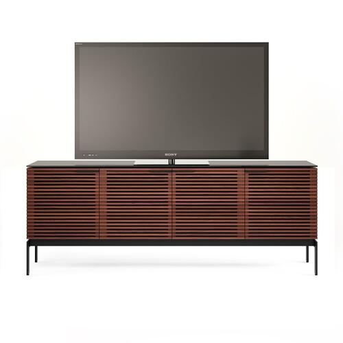 Sv 7129 Quad Media Console Credenza in Chocolate Stained Walnut