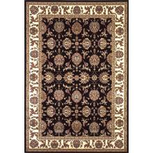 "Cambridge 7313 Black/ivory Kashan 5'3"" X 7'7"""