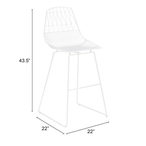 Zuo Modern - Brody Bar Chair White