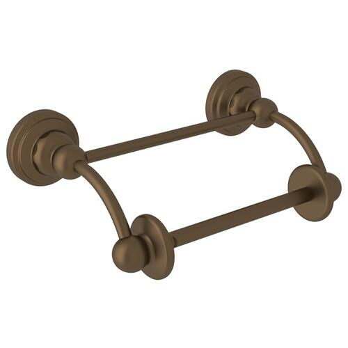 English Bronze Perrin & Rowe Edwardian Wall Mount Swing Arm Toilet Paper Holder With Lift Arm