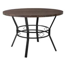 "45"" Round Dining Table in Espresso Wood Finish"
