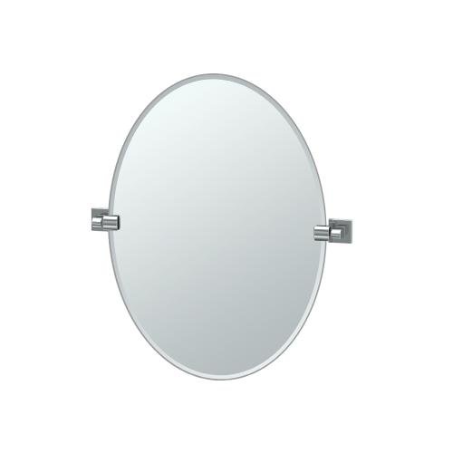Elevate Oval Mirror in Chrome