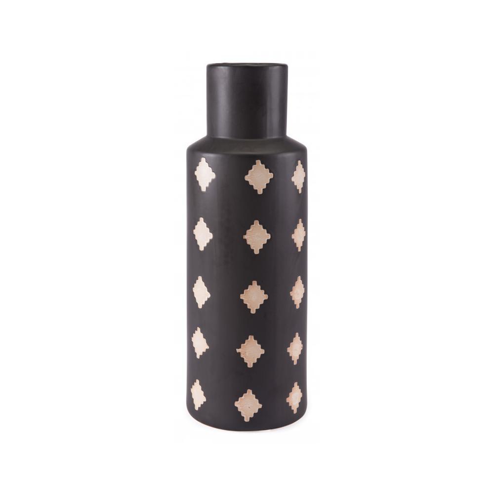 Large Pampa Bottle Black & Beige