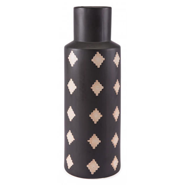 Large Pampa Bottle Black & Beige