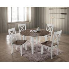 5057 ALACARTE: White Round Table & 4 Chairs
