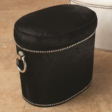 View Product - Angus Black Cowhide Ring Bench