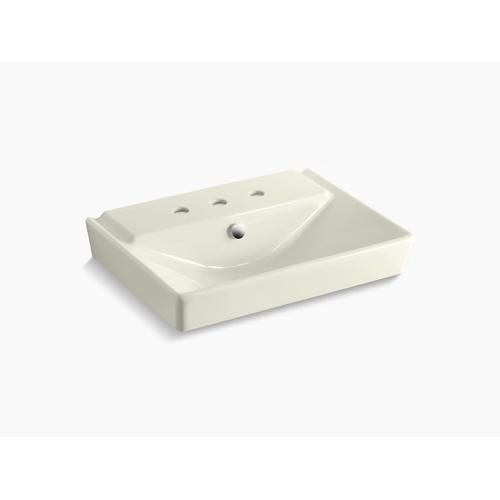 "Biscuit 23"" Pedestal Bathroom Sink Basin With 8"" Widespread Faucet Holes"
