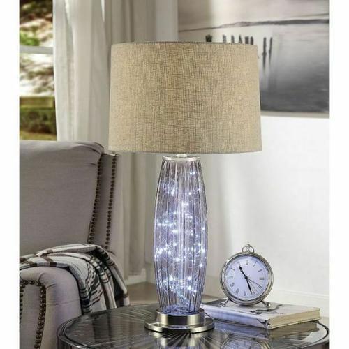 ACME Aurinda Table Lamp - 40145 - Sandy Nickel