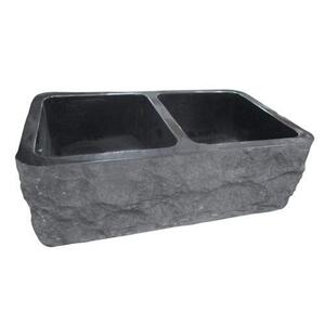 "Bowdon Double Bowl Granite Farmer Sink - 33"" Product Image"
