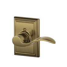 Accent Lever with Addison Trim Non-Turning Lock - Antique Brass