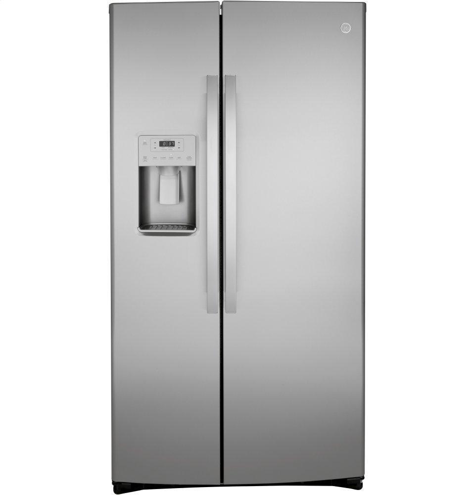 GE21.8 Cu. Ft. Counter-Depth Fingerprint Resistant Side-By-Side Refrigerator