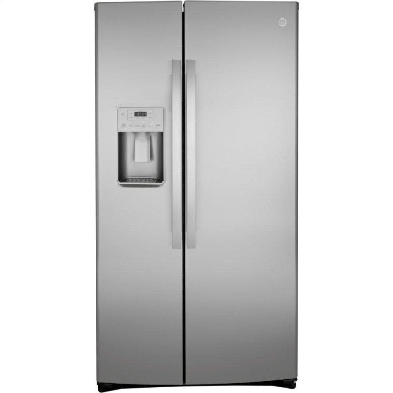 ®21.8 Cu. Ft. Counter-Depth Fingerprint Resistant Side-By-Side Refrigerator
