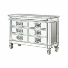 ACME Varian Server - 66159 - Glam, Vintage - Mirror, Wood (Poplar/Rbw), Poly-Resin, MDF - Mirrored and Antique Platinum