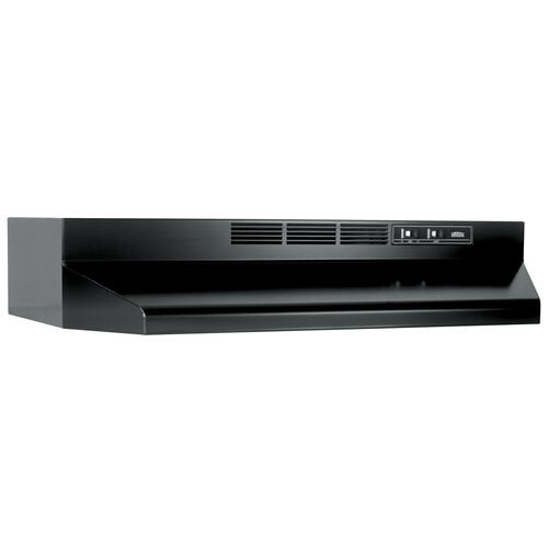 Broan® 30-Inch Ductless Under-Cabinet Range Hood w/ Easy Install System, Black