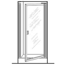 See Details - Prestige Framed Pivot Shower Doors - Silver