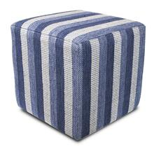 "F838 Denim Landscapes Pouf 18"" X 18"" X 18"""
