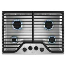 See Details - 30-inch Gas Cooktop with 4 Burners - Stainless Steel