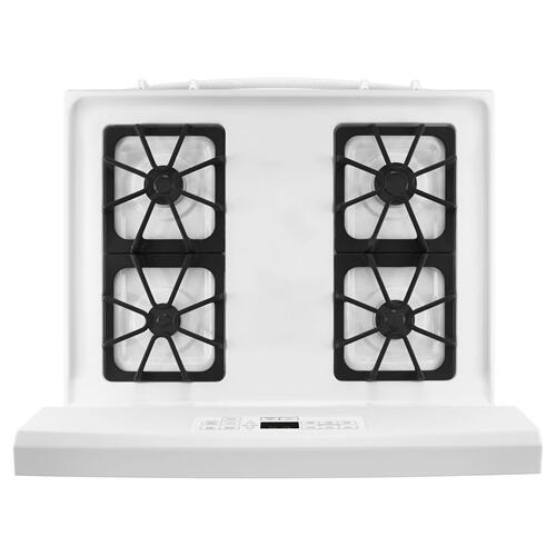 30-inch Gas Range with Self-Clean Option White