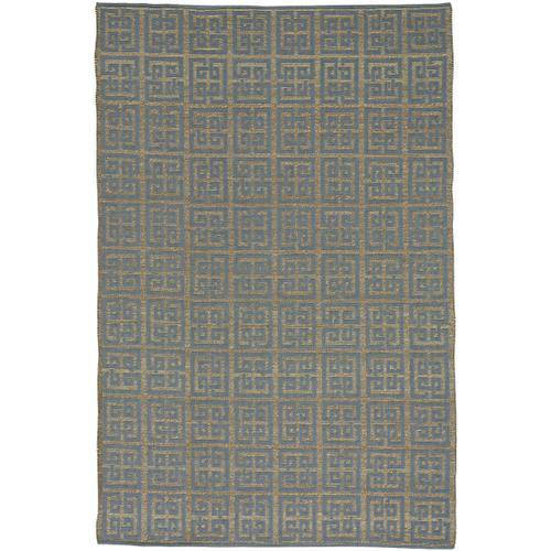 Palace Fret Chiswell Blue Hand Loomed Area Rugs