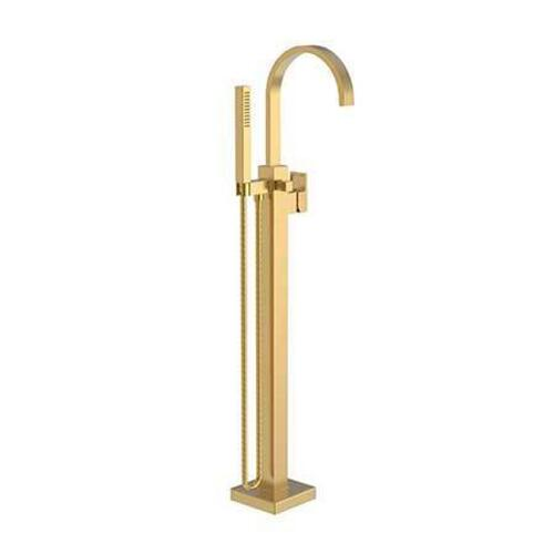 Newport Brass - Satin Gold - PVD Exposed Tub and Hand Shower Set - Free Standing