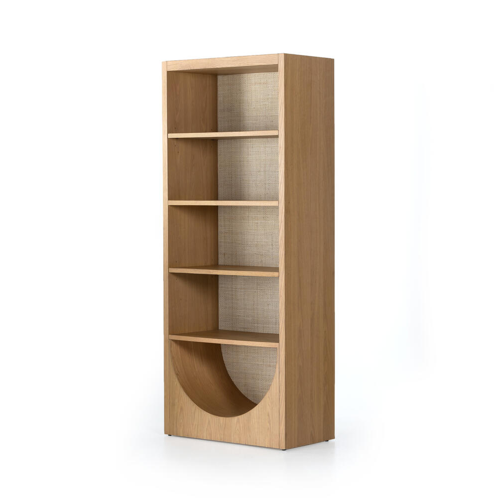 Higgs Bookcase-honey Oak Veneer