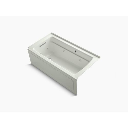 """Dune 60"""" X 32"""" Alcove Whirlpool Bath With Bask Heated Surface, Integral Apron, Integral Flange and Left-hand Drain"""